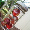A mix of Red marbles