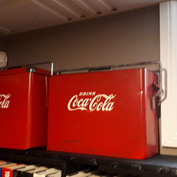 1953 Greetham Canadian Coca Cola airplane cooler - Coca-Cola