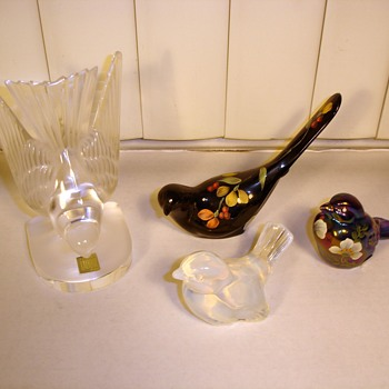 My glass cats are hungry for my glass birds! - Art Glass