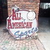 All American Sports Diner road sign