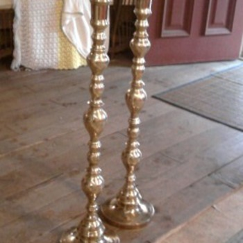 Solid Brass Candle Stick Holders