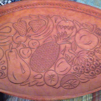 Leather Serving tray - Kitchen