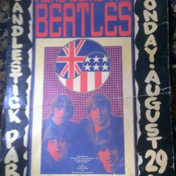 Original Beatles Candlestick Park Concert Poster - Music Memorabilia