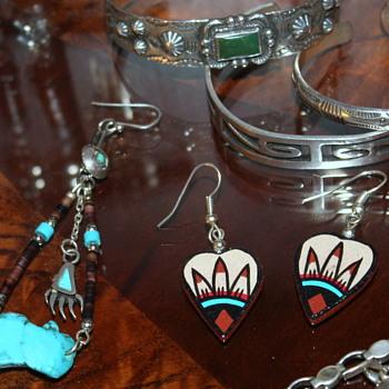 Continued Post w/new pics Owl Earrings Turq/Carnelian & Turq Ring - Fine Jewelry