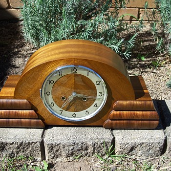 German Art Deco Mantle Clock Late '30's