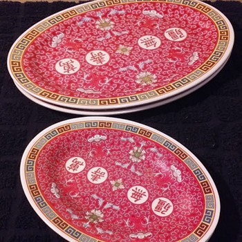 a couple pair of u0027asian buffetu0027 decorated melamine plates & Vintage Melamine Ware | Collectors Weekly