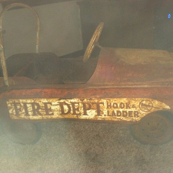 amf fire department pedal car - Firefighting