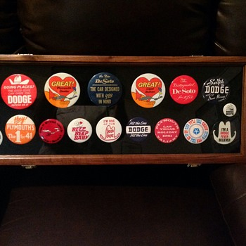 Dodge, Plymouth and Plymouth Roadrunner Pinback Collection - Medals Pins and Badges