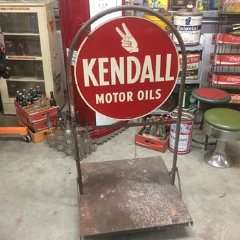 1948 Kendall sidewalk sign  - Petroliana