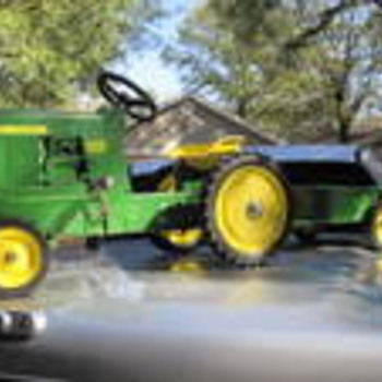 My Uncles John Deere Pedal Tractor 4020 Diesel Childs Toy W/Trailer