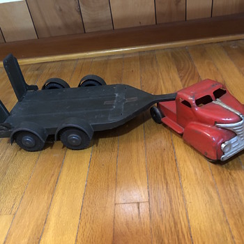 Vintage toy truck and flatbed  - Model Cars