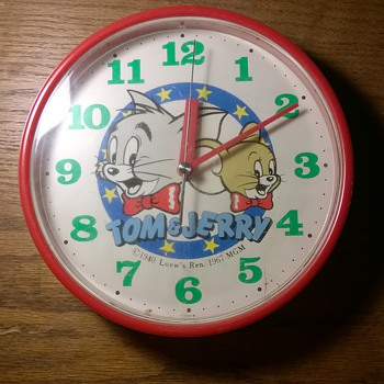 Tom & Jerry Clock 1985 - Clocks