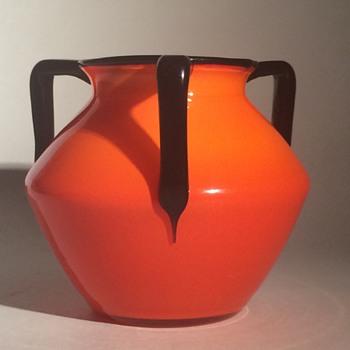 Loetz Tango tri-handled vase