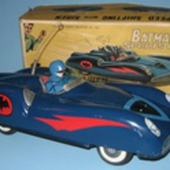 Vintage Batman Alps Sports Car with Box