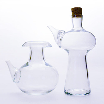2 jugs designed by Bertil Vallien (Boda, ca. 1960) - Art Glass
