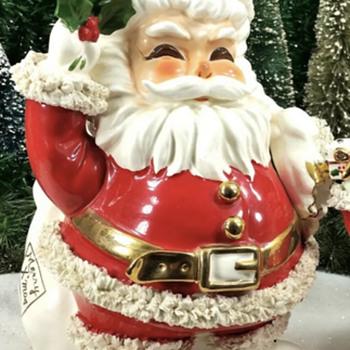 Napco 13 inch Spaghetti Santa Planter - Christmas
