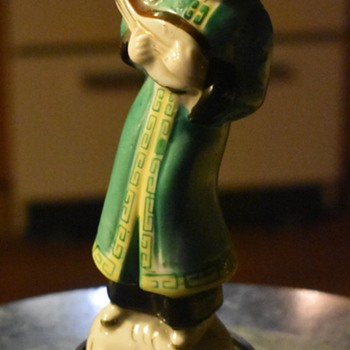 Chinese musician - Porcelain figurine - republic? maybe? - Pottery