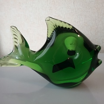 Mantorp Glass angel fish  - Art Glass