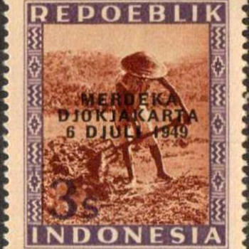 1949 - Indonesia Postage Stamps (Revolutionary) - Stamps