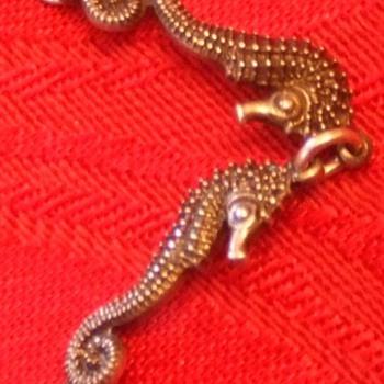 Seahorse bracelet, Carl Schon sterling silver c. 1940s - Fine Jewelry