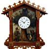 Bahnhäusle Cuckoo clock with oil painting C.1860
