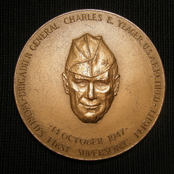 Large Special Congressional  Medal awarded to Charles E. Yeager