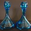 Fostoria St. Alexis #2299 cobalt candlesticks