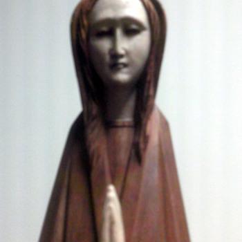 Wood Praying   Madonna?