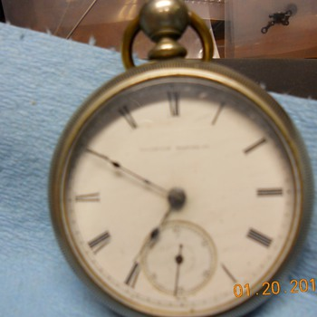 pocket watch from illinios watch co.  1878-1884 says SENATOR-CINCINNATE on inside of movement