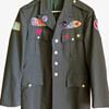Vietnam War Era Hippie Patched Army Jacket