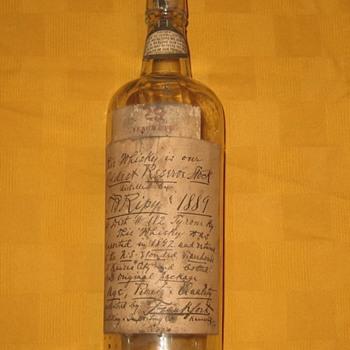 T B Ripy whisky bottle - Bottles