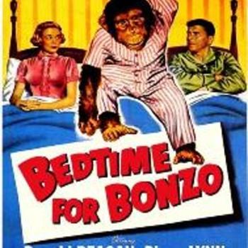 """SHEET MUSIC COVER """"PRES.REAGAN--BEDTIME FOR BONZO"""" 1951"""