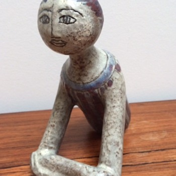 Ceramic sculpture. Unknown mark/signature - Fine Art