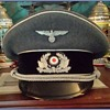 Rare visor cap of an officer of the Nazi Bahnschutzpolizei, or Railway Protection Police