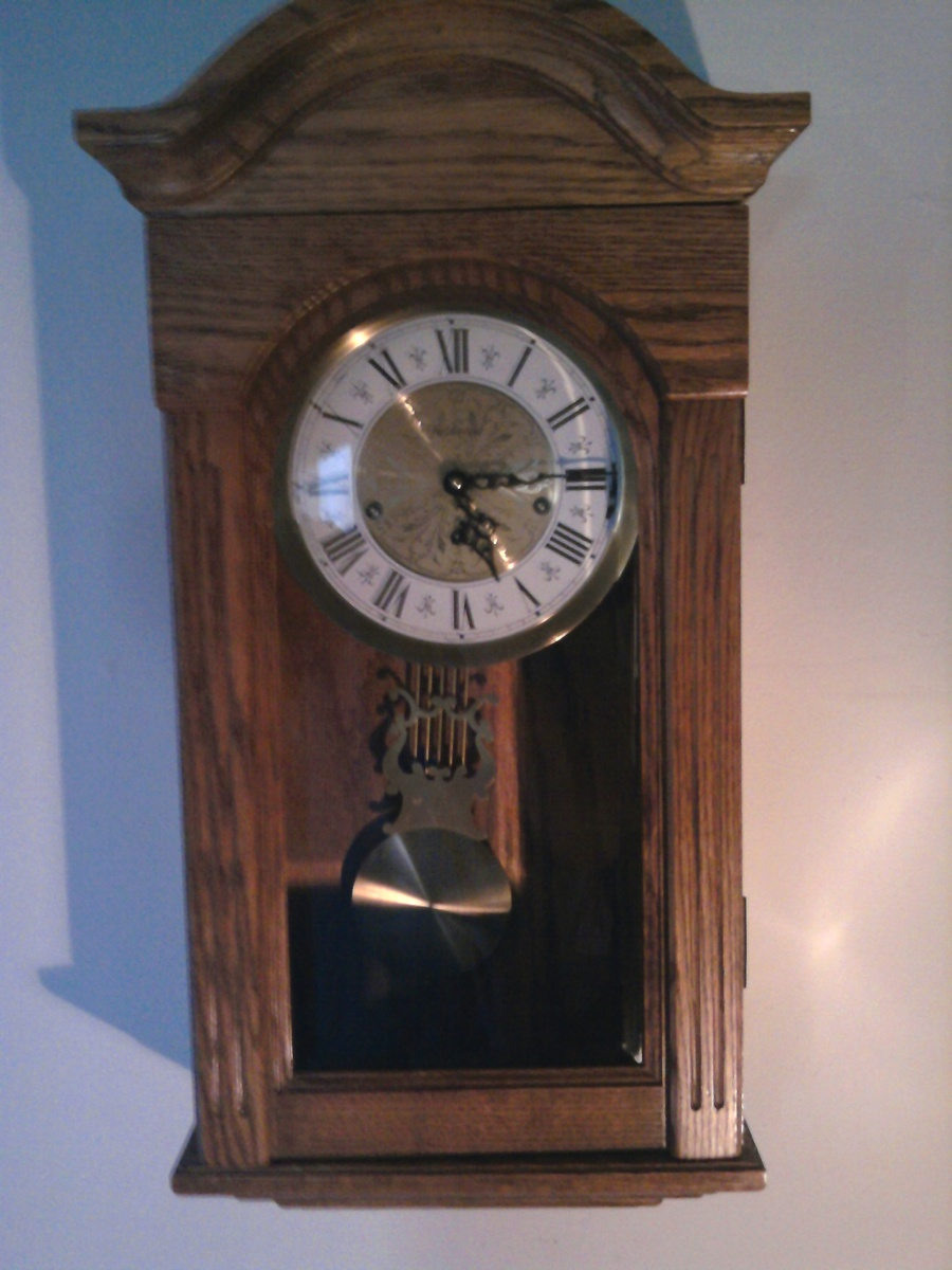 Cool Not That Old Triple Chime Oak Clock Collectors Weekly