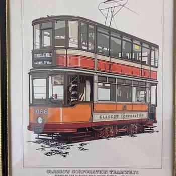 Glasgow Corporation Tramways Lithograph. - Railroadiana