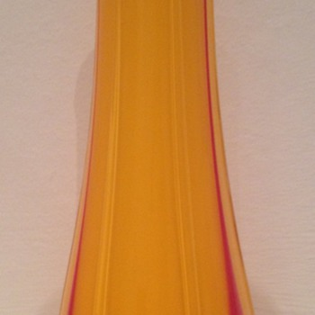Tango glass vase with tadpoles - Loebl - Art Glass