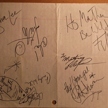 the B-52's: Autographs & Backstage Pass (Nashville, TN, 1989)