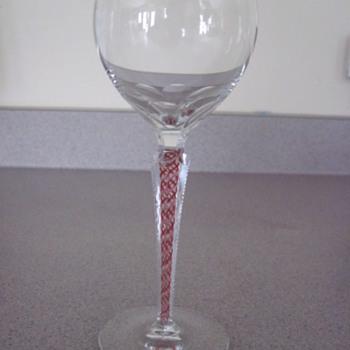 Grandmas hand cut wine glass - Glassware