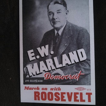 E.W.Maryland Roosevelt Political Card - Posters and Prints