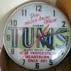 TUMS illuminated advertising display clock by Telechron