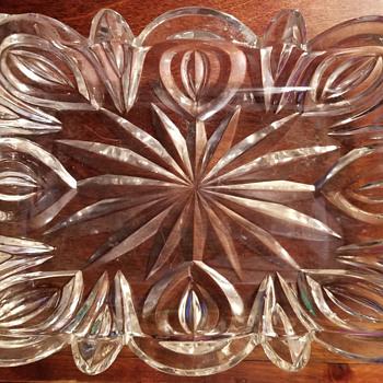 Cut glass dish