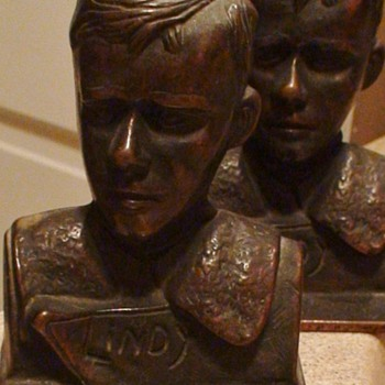"Charles Lindbergh ""Lindy"" Bookends By Verona"