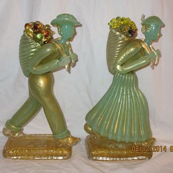 Ferro Toso Barovier Murano Harvester Figures - Art Glass