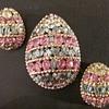 Napier Easter egg brooch & earrings set