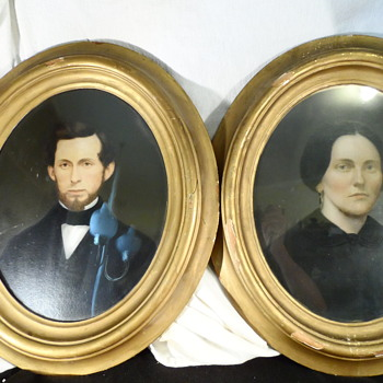 Antique Painted Portraits. - Photographs