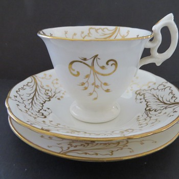 Antique Cup and Saucer and Plate - 1839-1845- Rustic Bean Handle - China and Dinnerware
