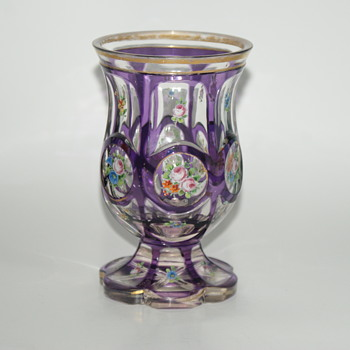 My favorite Find in a While:  Antique FREUNDSCHAFTSBECHER or FUßBECHER - Art Glass