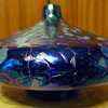 Beauty and the Beast: Beauty (Roger Vines Art glass oil lamp)