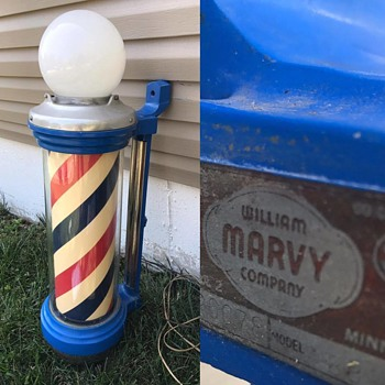 Marvy Light-up/spinning Barber Pole!!  - Advertising